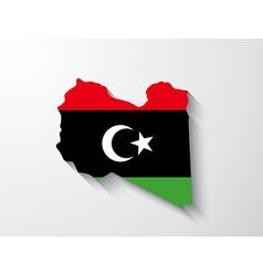 Libya map with shadow effect vector