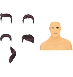 Male hairstyles black vector