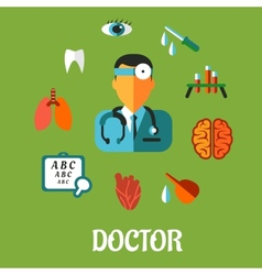 Medical flat infographic concept vector