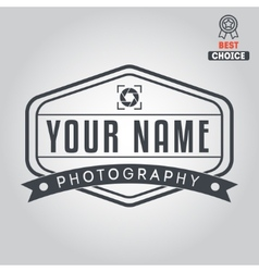 Logo badge emblem or label for photograph vector