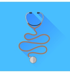 Medical stethoscope icon vector