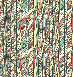 Seamless pattern with doodle waves ornament vector