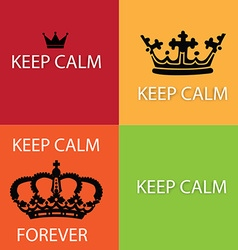 Keep calm design elements vector