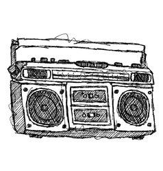 Scribble series - boombox vector