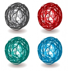 Scribble abstract ball vector