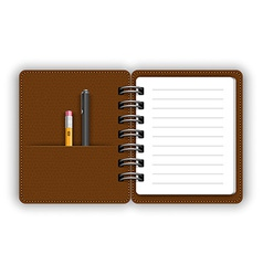Open notepad vector