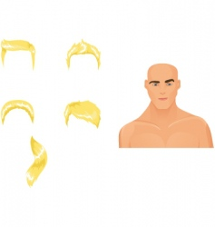 Male hairstyles blond vector
