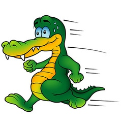 Crocodile runner vector