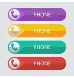 Flat buttons phone vector