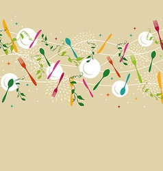 Silverware pattern vector