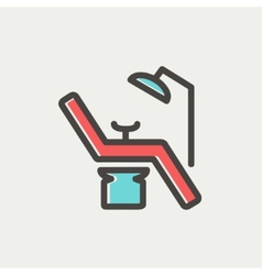 Dental chair thin line icon vector