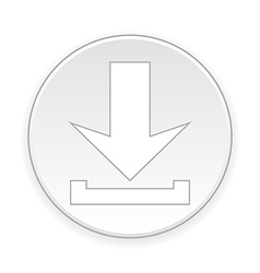 Arrow download button vector