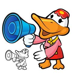 Loudspeaker to promote korea duck vector