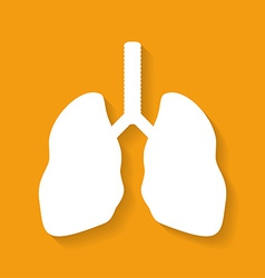 Icon of human lungs flat style vector