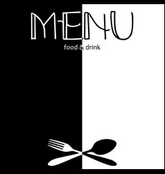 Black and white layout for menu vector