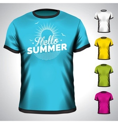 T-shirt design set with summer holiday vector