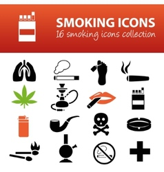 Smoking icons vector