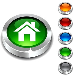 Home 3d button vector