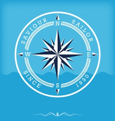 Wind rose old vector