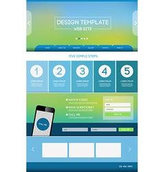 Landing page web vector