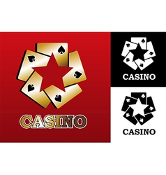 Casino logo vector