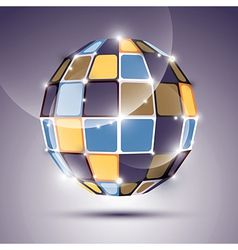 3d glossy mirror ball created from geometric vector