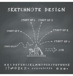 Doodle start up design vector