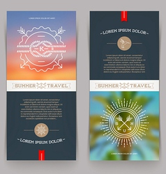 Vertical banners with nautical and travel sign vector