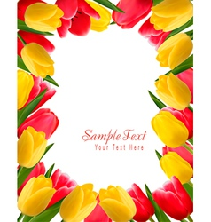 Colorful spring flower background vector