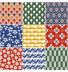 Seamless japanese style kimono pattern vector