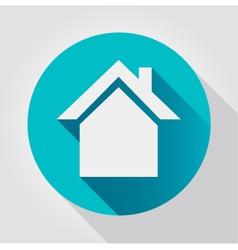 Home icon flat design vector