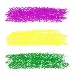 Mardi gras pastel crayon brush strokes vector