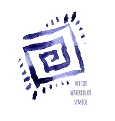 Watercolor symbol vector