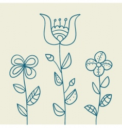 Floral drawing vector