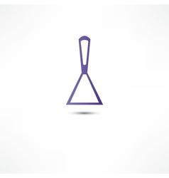 Spatula putty icon vector