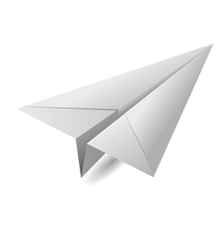 White paper airplane vector