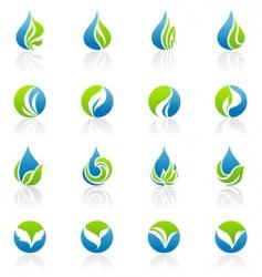 Leaves logo template vector