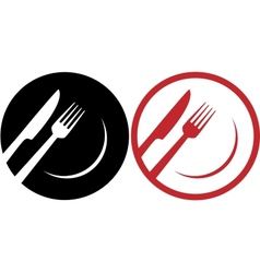 Red restaurant icons vector