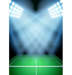 Background for posters night tennis stadium in the vector