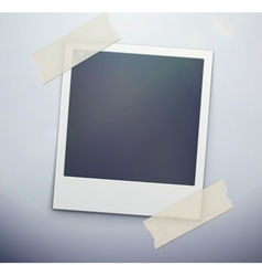 Retro polaroid photo frame vector