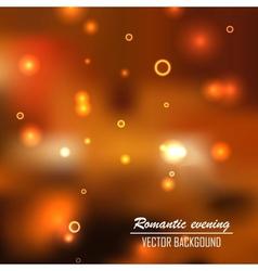 Romantic evening background vector