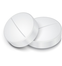 White pill on gray background vector