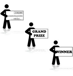 Grand prize winner vector