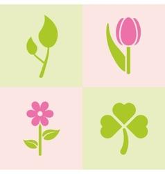 Spring plants vector