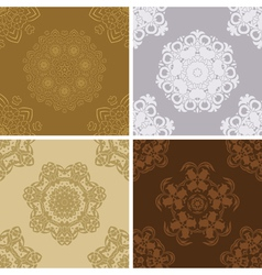 Set of seamless vintage pattern vector