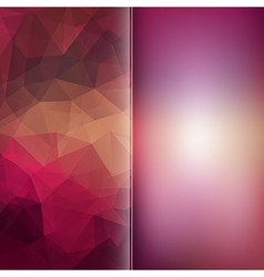 Set of polygon triangles and blurred backgrounds vector