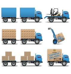 Shipment icons set 5 vector