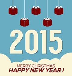 Simply and clean 2015 new year card vector