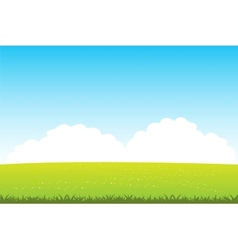 Clean field with flower vector