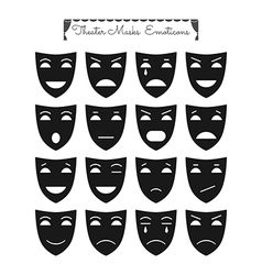Theatrical masks emoticons vector